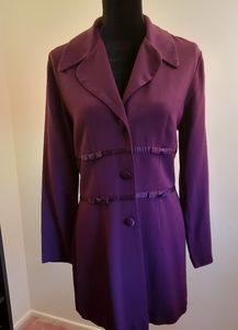Dawn Joy Fashions Long Fitted Jacket. Size 11/12.
